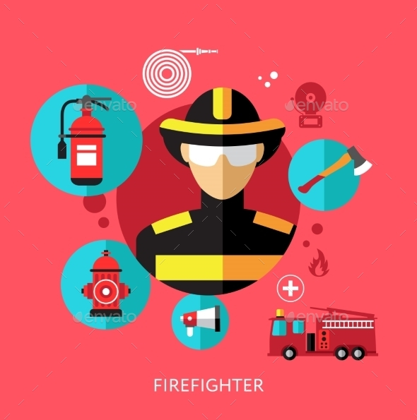 GraphicRiver Set Flat Icons with Man of Different Professions 10647563