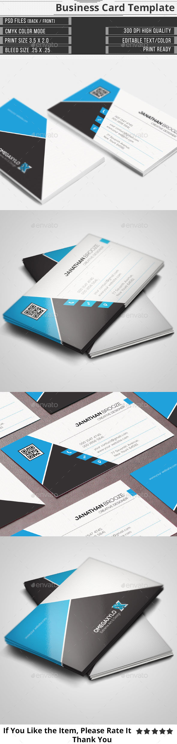 GraphicRiver Corporate Business Card 10647582