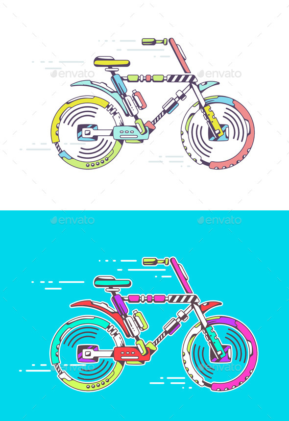 GraphicRiver Mountain Bicycle 10647636