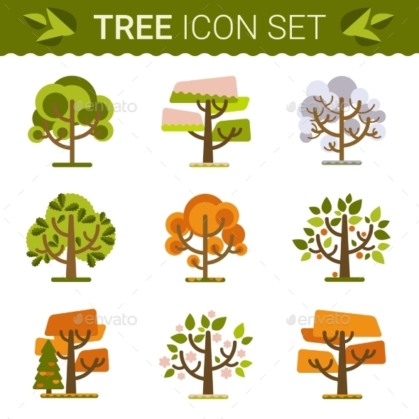 GraphicRiver Set of Trees 10647637