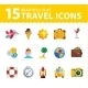 Vector Summer Icons. Flat Design Trend.  - GraphicRiver Item for Sale