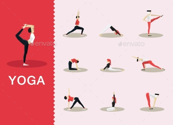 GraphicRiver Yoga Poses 10647691