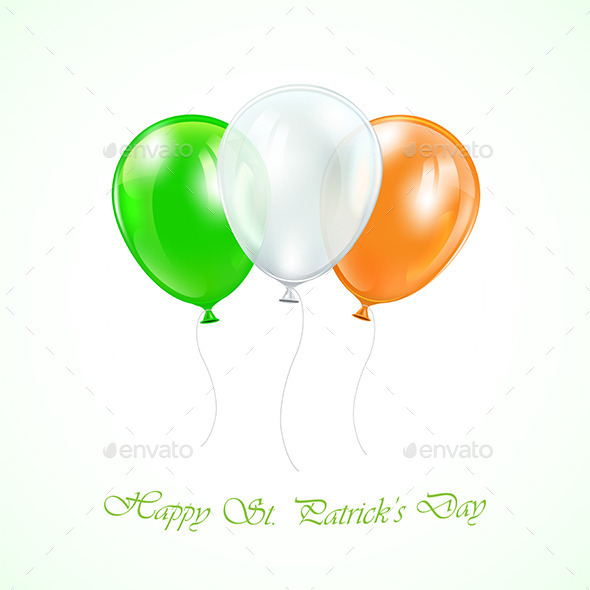 GraphicRiver Three Patricks Day Balloons 10647706