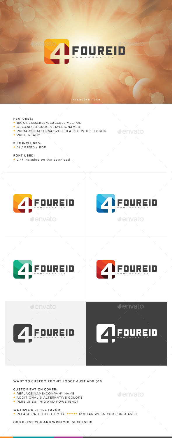 GraphicRiver Foureid Logo Template 10647837