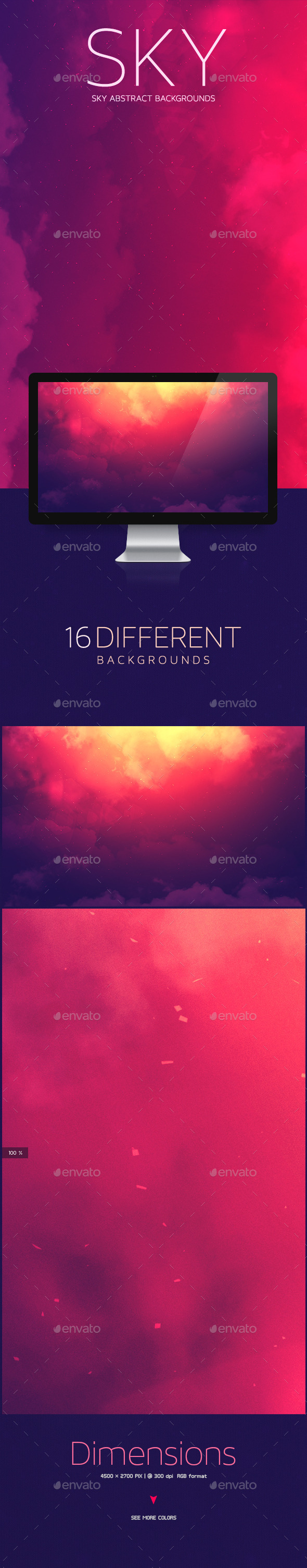 GraphicRiver Sky Abstract Backgrounds 10647840