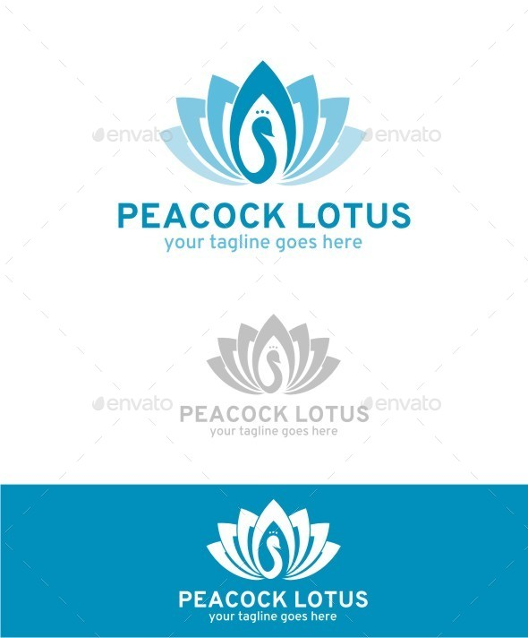 GraphicRiver Peacock Lotus Logo 10594754