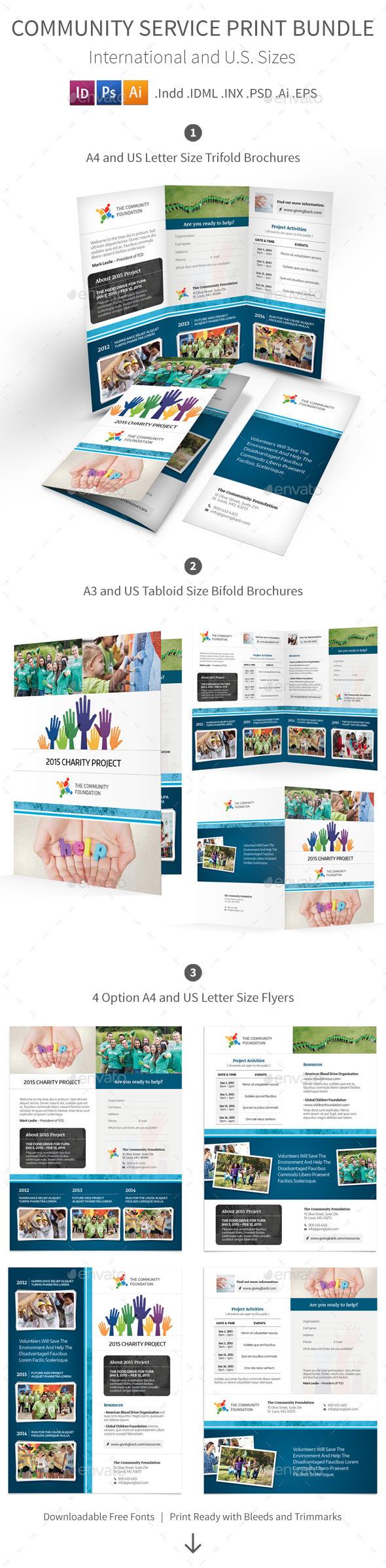 GraphicRiver Community Service Print Bundle 10648009