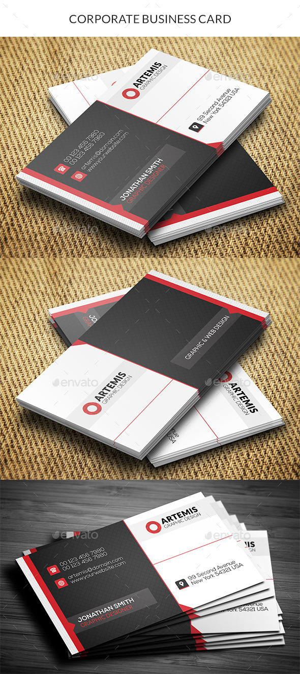 GraphicRiver Corporate Business Card 10648024