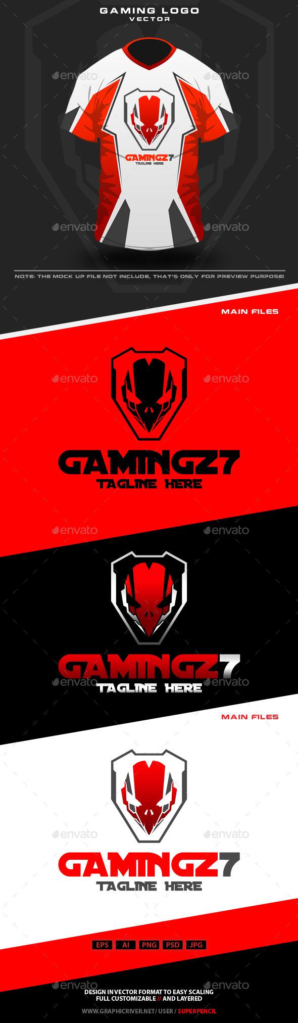 GraphicRiver Gamingz7 Logo 10648044