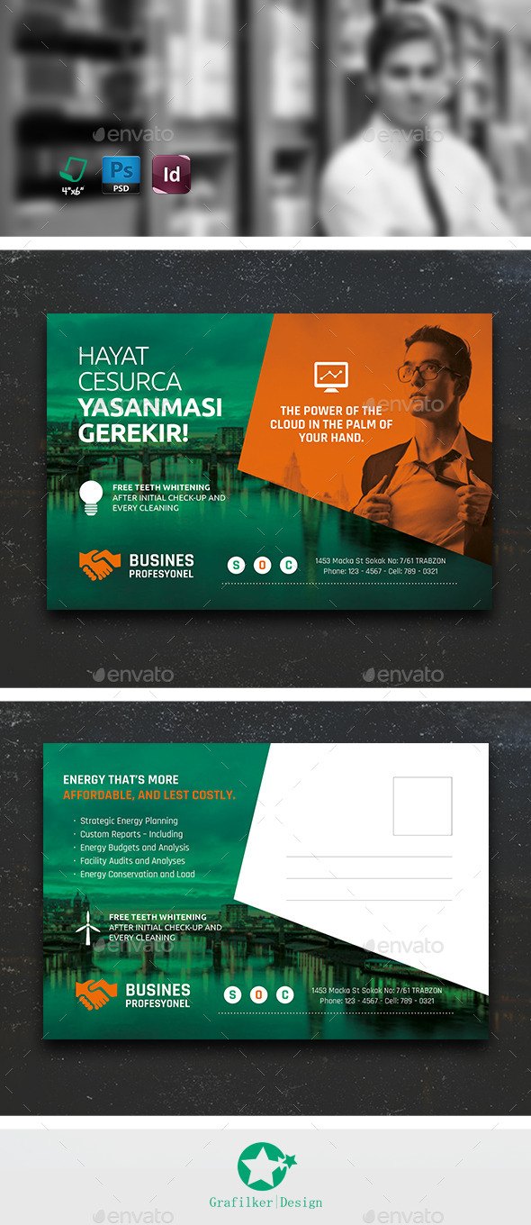 GraphicRiver Corporate Postcard Templates 10648063