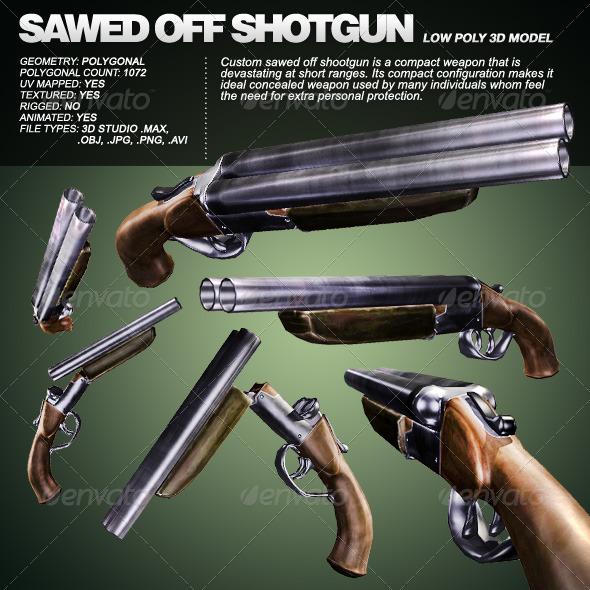 3DOcean Custom Sawed Off Shoot-Gun 133341