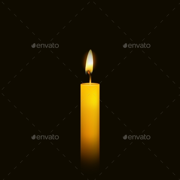 GraphicRiver Burning Candle over Black 10648077