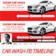 Car Wash Facebook Timeline - GraphicRiver Item for Sale