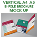 Vertical A4_A5 Bi-fold Brochure Mock Up - GraphicRiver Item for Sale