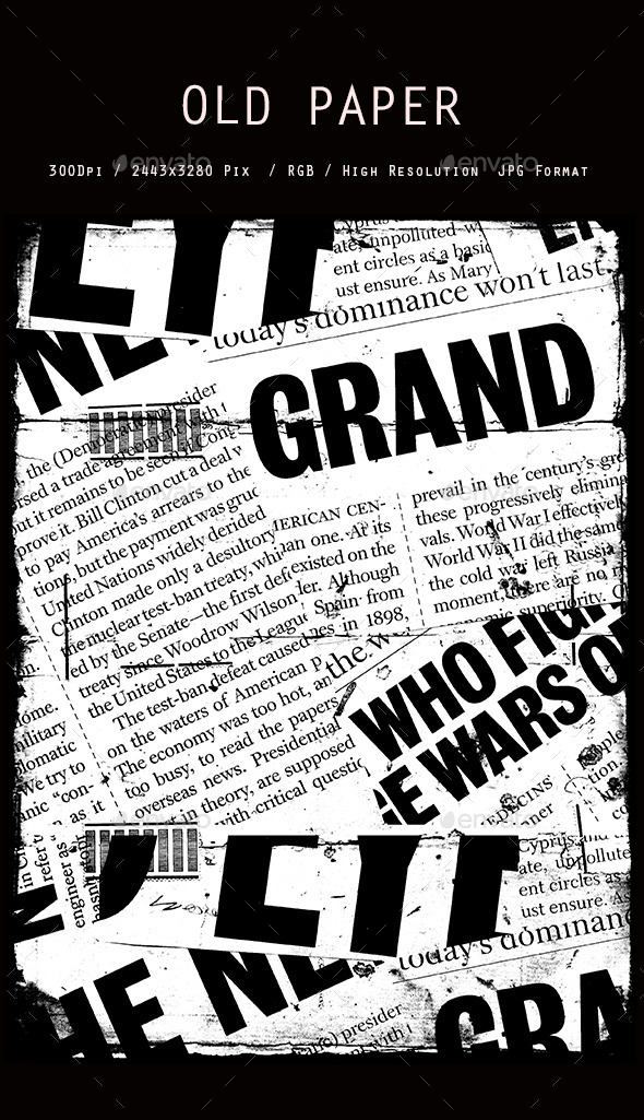 GraphicRiver Old Newspaper collage 0121 10648264
