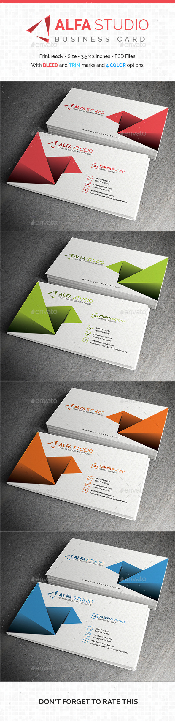GraphicRiver Alfa Studio Business Card 10648352