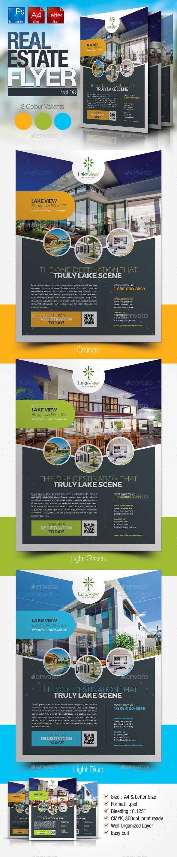 GraphicRiver Simple Real Estate Flyer Vol.09 10648360