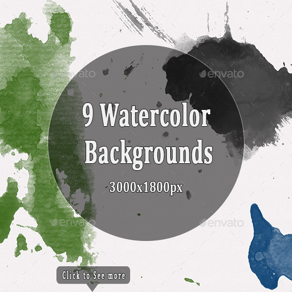 GraphicRiver Watercolor Backgrounds Vol 2 10648363
