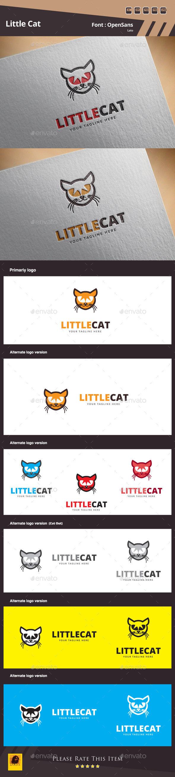 GraphicRiver Little Cat Logo Template 10648384