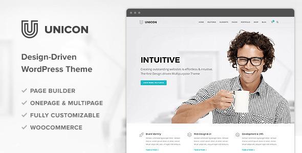 ThemeForest Unicon Design-Driven Multipurpose Theme 10648488