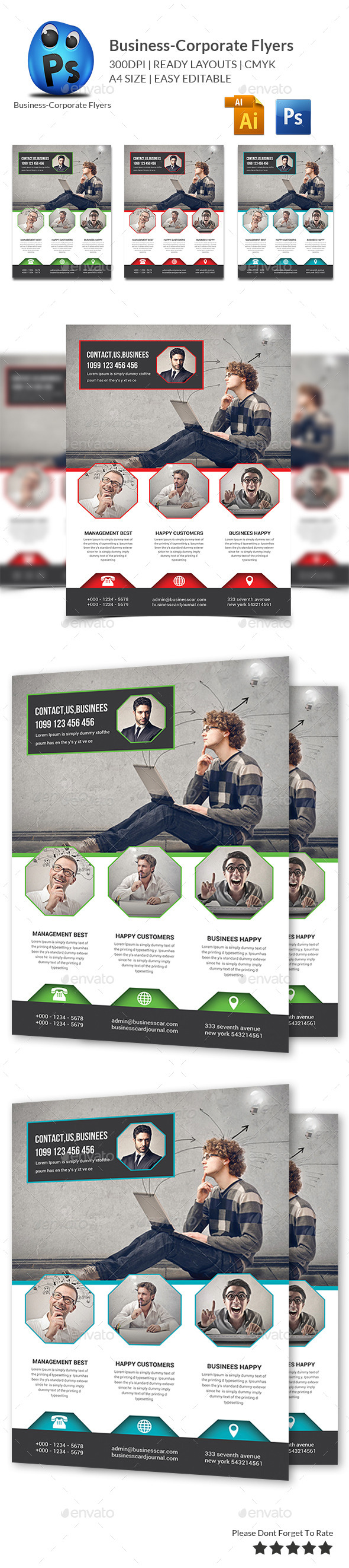 GraphicRiver Corporate Business Flyer Template 10648556