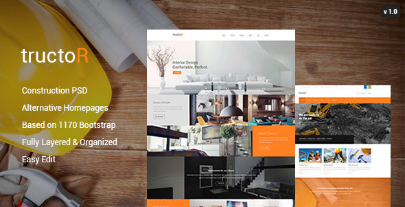 ThemeForest Tructor Construction PSD Template 10589161