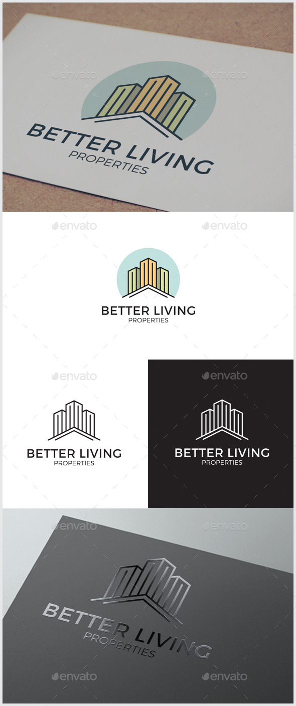 GraphicRiver Better Living Real Estate Logo 10648802