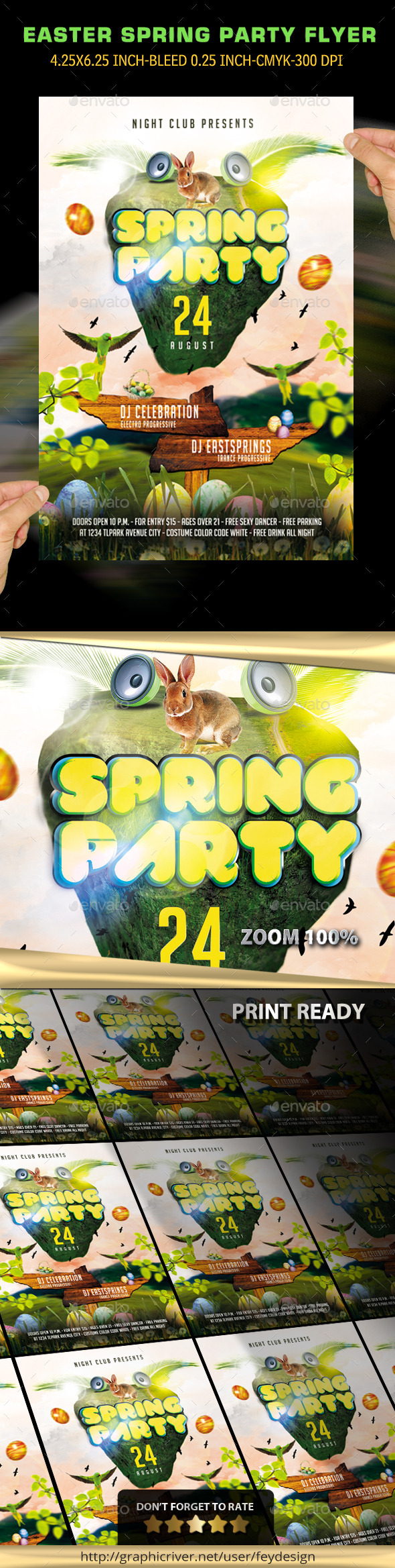 GraphicRiver Easter Spring Party Flyer 10648915