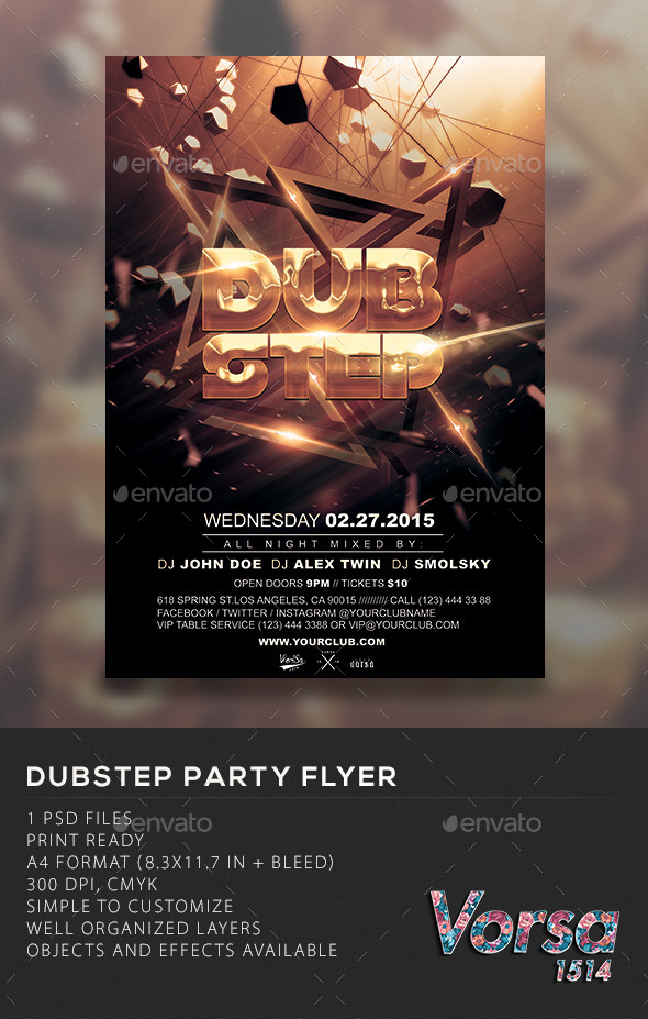 GraphicRiver Dubstep Party Flyer 10648917
