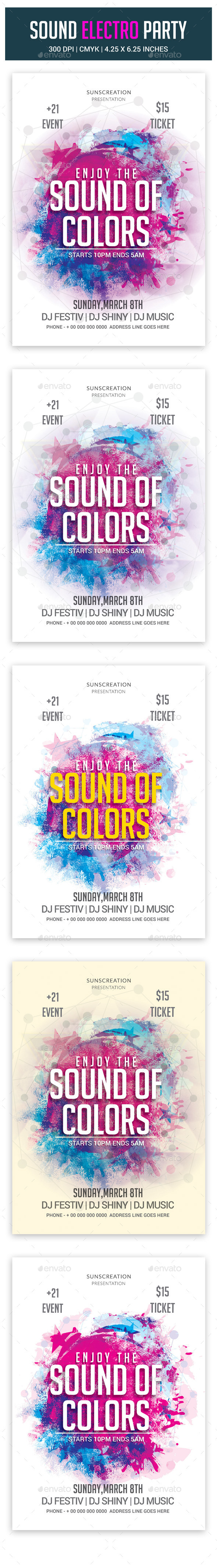GraphicRiver Sound Electro Party 10649129