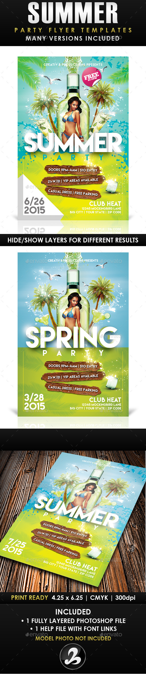 GraphicRiver Summer Party Flyer Template 3 10649528