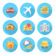 Modern Flat Traveling Icons - GraphicRiver Item for Sale