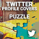 Twitter Profile Covers - Puzzle - GraphicRiver Item for Sale