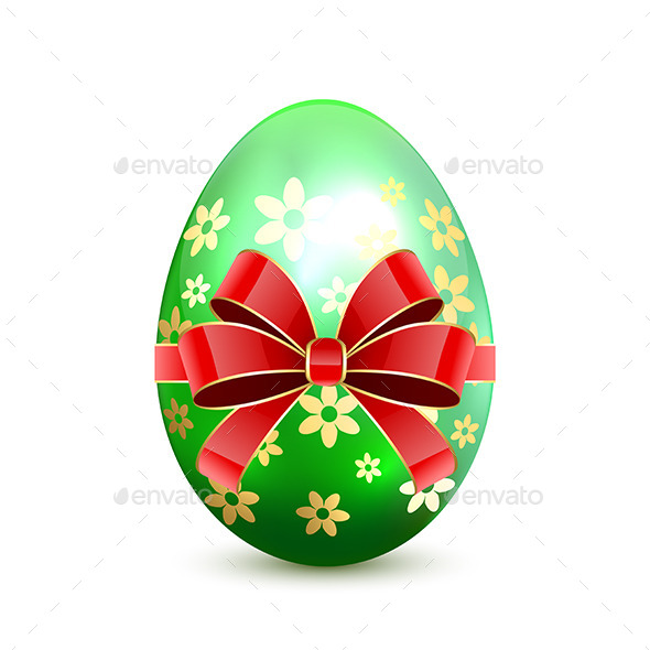 GraphicRiver Green Easter Egg with Bow 10649858