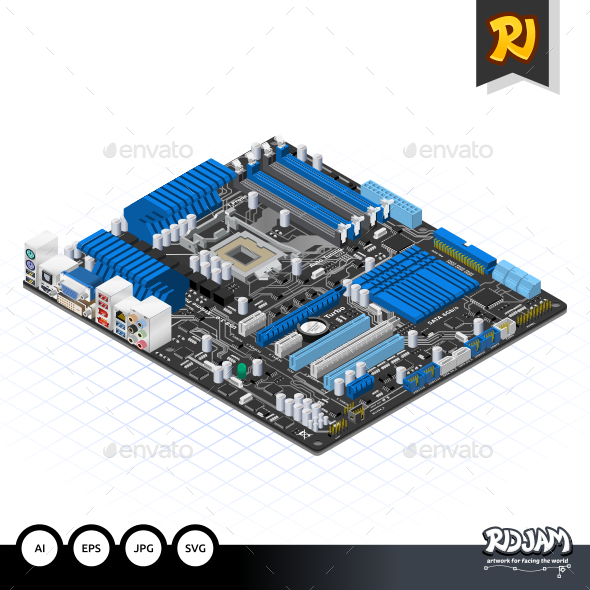 GraphicRiver Isometric Motherboard 10650153