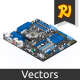 Isometric Motherboard - GraphicRiver Item for Sale