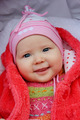 little baby smiling in the perambulator - PhotoDune Item for Sale