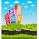 Cartoon Road Landscape  - GraphicRiver Item for Sale