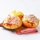 Bread rolls with slices of cheese and ham on top - PhotoDune Item for Sale