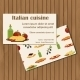 Italian Cuisine Cards  - GraphicRiver Item for Sale