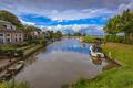 Recreational Boating Landscape Ritsumazijl, Friesland, Netherlan - PhotoDune Item for Sale