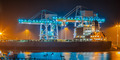 Ship in a harbor at night - PhotoDune Item for Sale