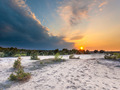Sunset with Storm Front over Nature Reserve - PhotoDune Item for Sale