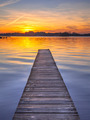 Majestic Sunset over Wooden Jetty in Groningen, Netherlands - PhotoDune Item for Sale