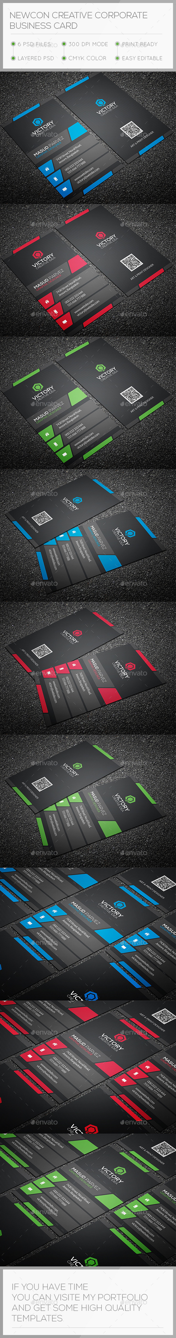 GraphicRiver Newcon Creative Business Card 10651854