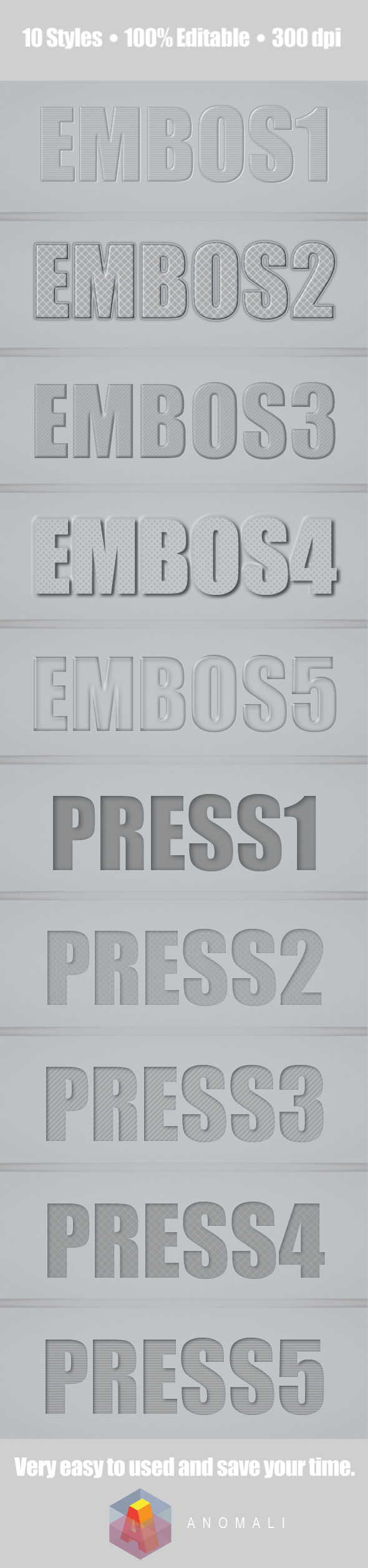 GraphicRiver Pressed and dePressed Photoshop Style 10651881