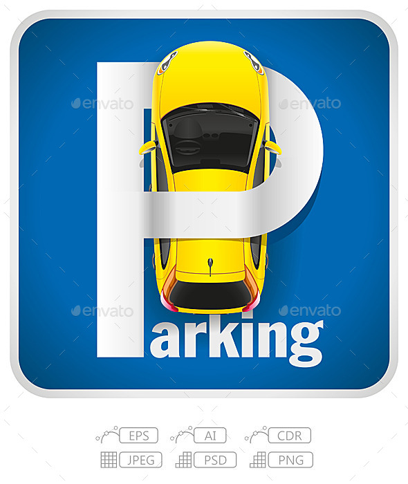 GraphicRiver Car Parking Sign 10652241