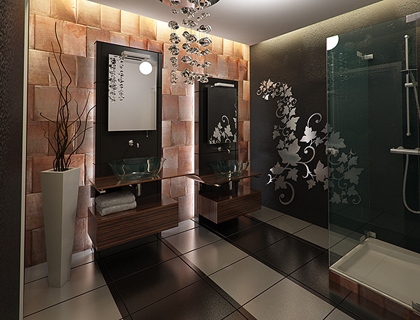 Modern Bathroom - 3DOcean Item for Sale