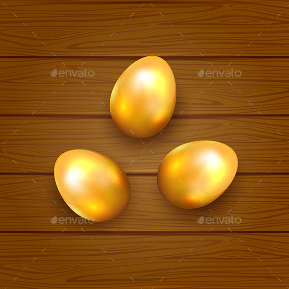 GraphicRiver Golden Easter Eggs 10653223
