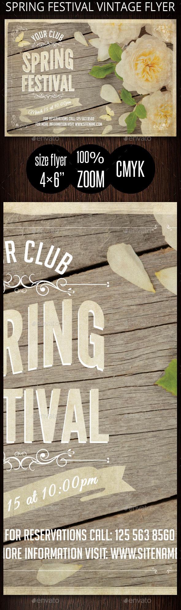 GraphicRiver Spring Festival Vintage Flyer 10653278